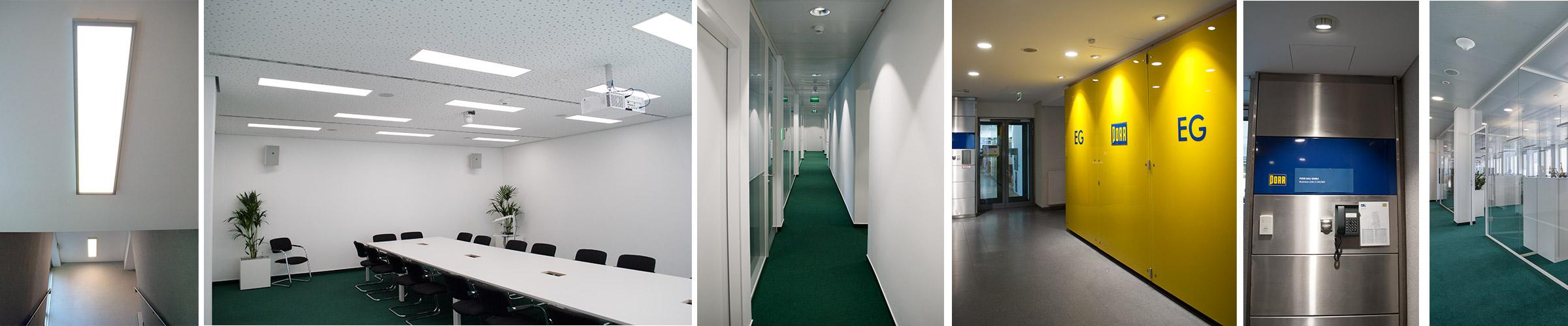 Büro PORR Hochhaus mit SML LED Leuchten