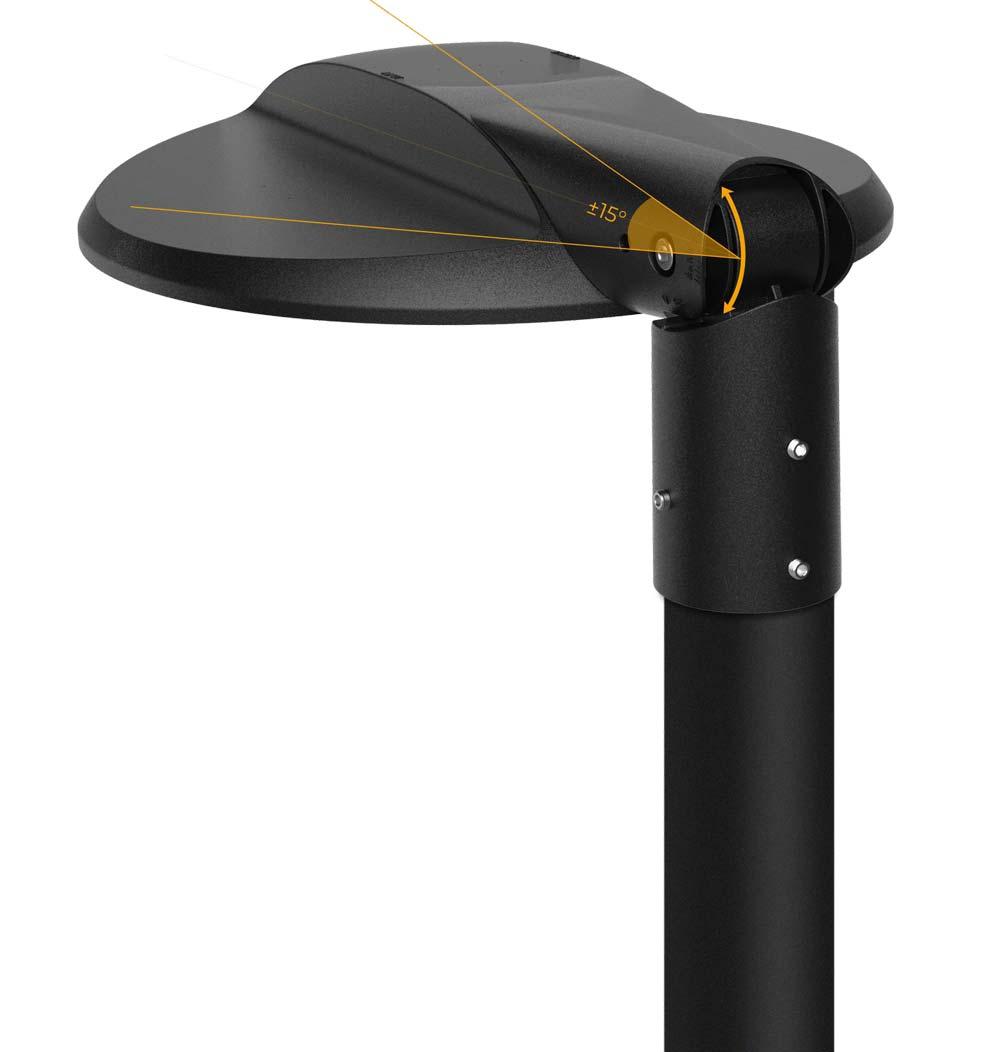 LED Strassenleuchte Gatos für Mastmontage neigbar