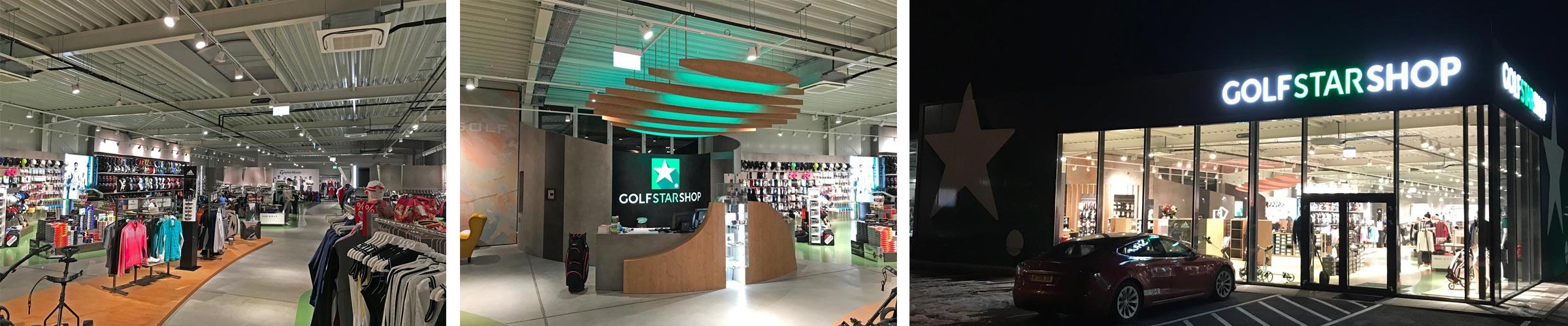 Golfshop mit SML LED Produkten