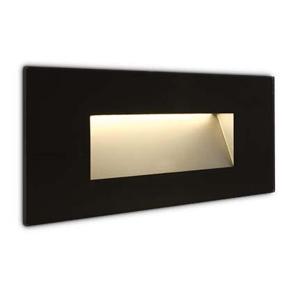 LED Wandeinbauleuchte schwarz