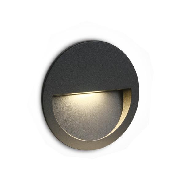 LED Wand-Deckenleuchte Oncasso R anthrazit