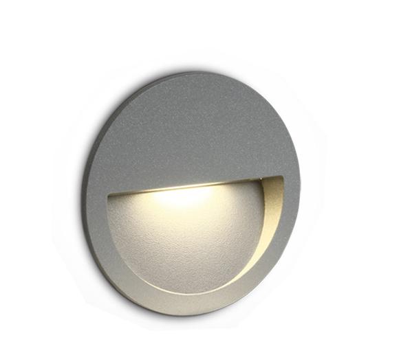 LED Wand-Deckenleuchte Oncasso R grau