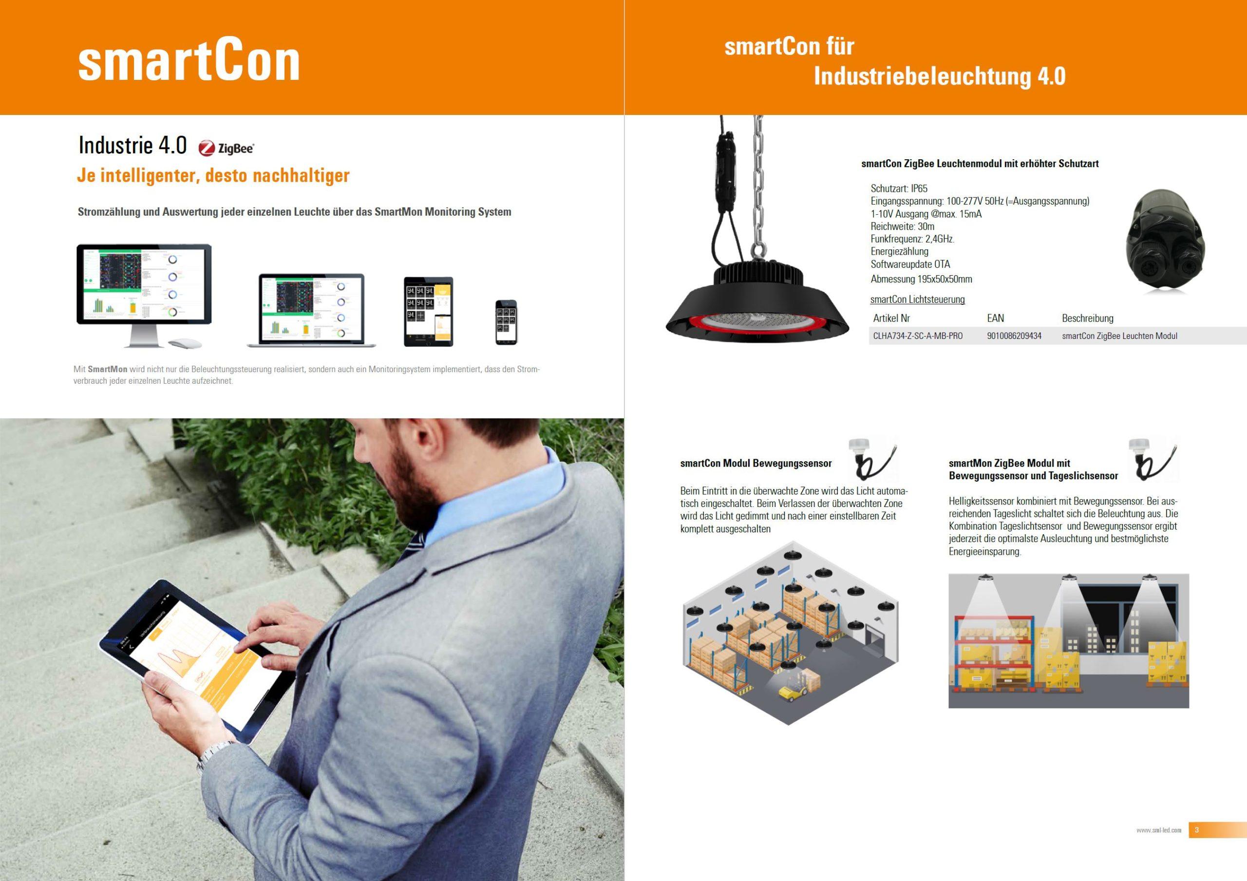 Zigbee Lichsteuerung smartCon von SML LED smart mit led gmbh